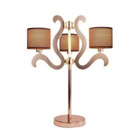 Ambrosia 3 Lampka Gabinetowa 3x40W E14 + 18,4W LED Miedziany
