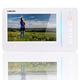 """Monitor 7"""" kolorowy JB304_N60w - dotykowe przyciski (biały)"""