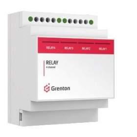 Grenton Moduł wyjść przekaźnikowych RELAY x4 DIN montaż na szynę DIN