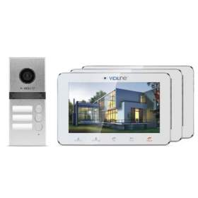 Wideodomofon IP 3-rodzinny VidiLine V-IP7-D3