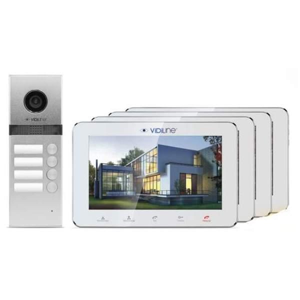 Wideodomofon IP 4-rodzinny VidiLine V-IP7-D4