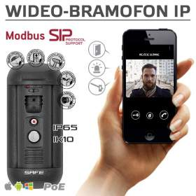 Wideodomofon IP SAFE S03M(P) na iOS, Android, Windows (SIP,ModBus,ONVIF, PoE)