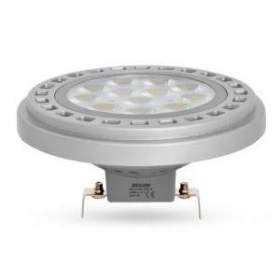 ŻarówkaAR111-LED 30° 12W G53 ciepło biała, obudowa szara, 12AC/DC
