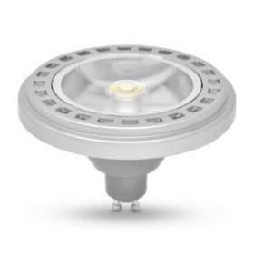 Żarówka AR111 GU10 LED 30° COB 15W neutralna biała, obudowa srebrna