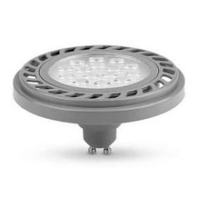 Żarówka LED AR111 GU10 SOFT 30° 9W neutralna biała, obudowa srebrna