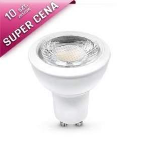 Zestaw 10 szt. żarówek  LEDSTAR GU10 COB 7W 38° ciepło biała