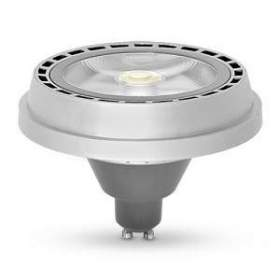 Żarówka LED AR111 POWER GU10 30° COB 28W neutralna biała, obudowa srebrna