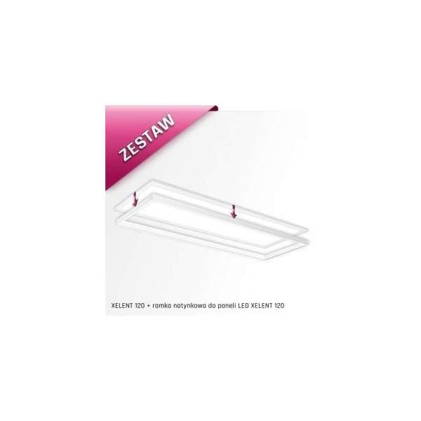 ZESTAW ! Oprawa XELENT 120 50W neutralna biała + ramka do montażu natynkowego