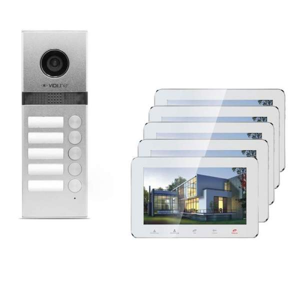 Wideodomofon IP 5-rodzinny VidiLine V-IP7-D5