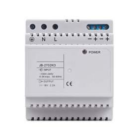 Zasilacz do wideodomofonów serii JB-304, 18VDC, 2,2A - na szynę DIN