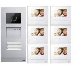 Zestaw wideo 6-rodzinny ABB WELCOME BASIC