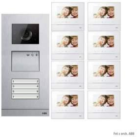 Zestaw wideo 8-rodzinny ABB WELCOME BASIC