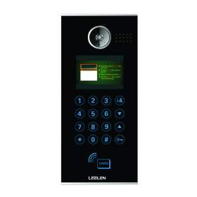 Szklany bramofon Leelen TCPIP_No16 (RFID + Kod PIN + QR)
