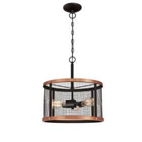Lampa retro z siatkowym kloszem 60W E27
