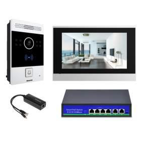 """Wideodomofon IP Akuvox 7"""" HD, NFC, switch 4xPOE"""