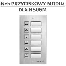 Rozszerzenie bezpośredniego wywołania do 6 abonentów dla bramofonów Safe IP - HP6