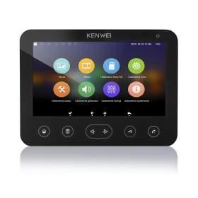 """Kenwei Monitor 7"""" KW-E706FC/W200-B z pamięcią czarny"""