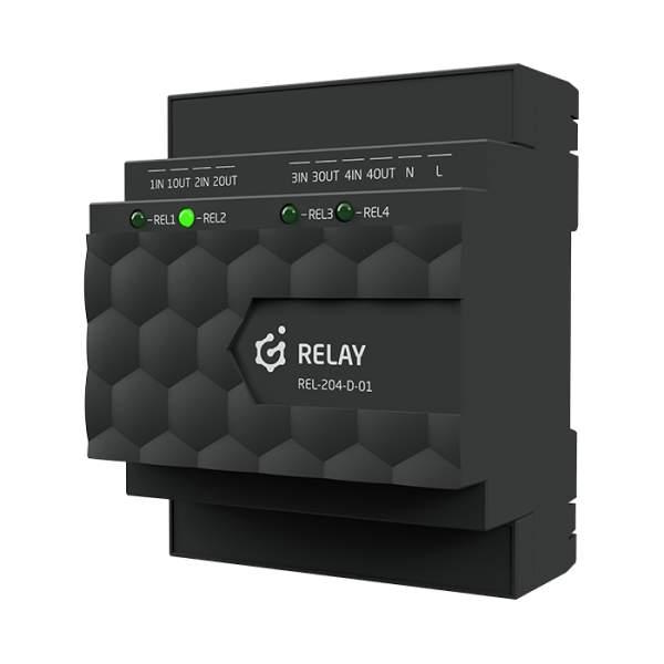 Grenton 2.0 RELAY 4HP Moduł wyjść przekaźnikowych HP (HIGH POWER) DIN, TF-Bus