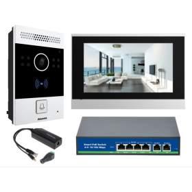 """AKUVOX Wideodomofon 7"""" HD, NFC, SIP, RFID, pamięć (C313S + R20A-P)"""