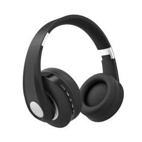 V-TAC Bezprzewodowe Słuchawki Bluetooth Regulowany Pałąk 500mAh Czarne VT-6322