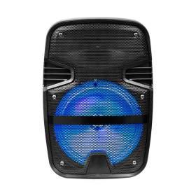 V-TAC Głośnik Przenośny   15W Mikrofon, RGB, PILOT, USB, Micro SD &amp FM Radio, na k&243łkach VT-6208