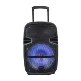 V-TAC Głośnik Przenośny   35W Mikrofon, RGB, PILOT, USB, Micro SD &amp FM Radio, na k&243łkach 510x320x270 VT-6212