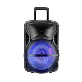 V-TAC Głośnik Przenośny   50W 2xMikrofon, RGB, PILOT, USB, Micro SD &amp FM Radio, na k&243łkach 600x370x340 VT-6315