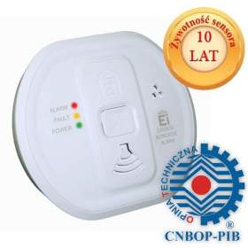SERIA HOME Czujnik tlenku węgla (czadu) CNBOP Ei Electronics