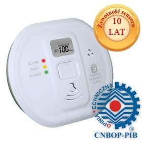 SERIA HOME Czujnik tlenku węgla (czadu) z wyświetlaczem CNBOP Ei Electronics