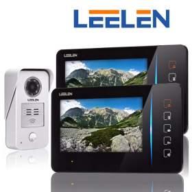 Wideodomofon 7cali 2xN60/No15nc+3xbrelok (z czytnikiem)