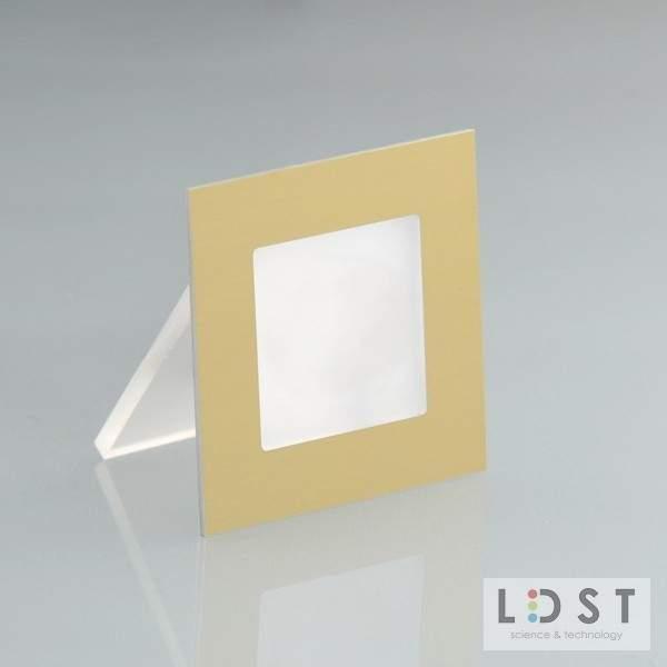 Oprawa LED ANGEL 9LED 230V 1,2W - szczotkowana złoty